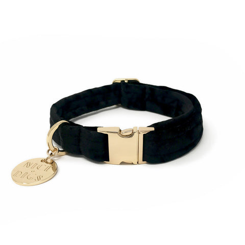 Velvet Dog Collar - Noir