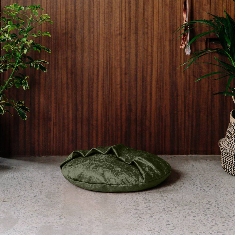 Velvet Snuggle Dog Bed - Evergreen