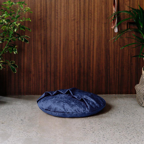 Velvet Snuggle Dog Bed - Midnight