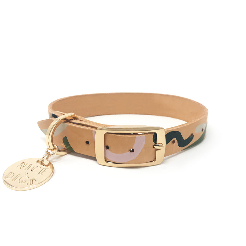 Wandering Ways Leather Dog Collar