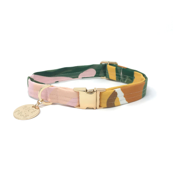 Wanderlust Printed Dog Collar