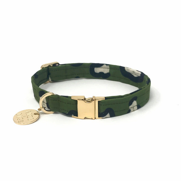 Wild Thing Printed Dog Collar - Evergreen