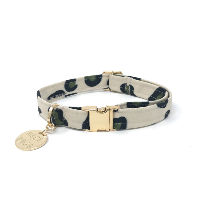 Wild Thing Printed Dog Collar - Slate