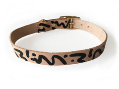 Ziggy Leather Collar - Black