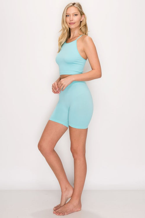 SEAMLESS SET | AQUA-Set-Fashion Bombshellz | Online Boutique