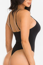 BLACK SEAMLESS BODYSUIT-Fashion Bombshellz | Online Boutique