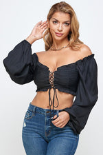 ADRIANA CROP TOP-Tops-Fashion Bombshellz | Online Boutique