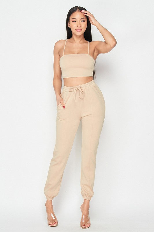 NINA JOGGER SET-Set-Fashion Bombshellz | Online Boutique