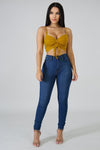 SCRUNCHED CROP TOP-Tops-Fashion Bombshellz | Online Boutique
