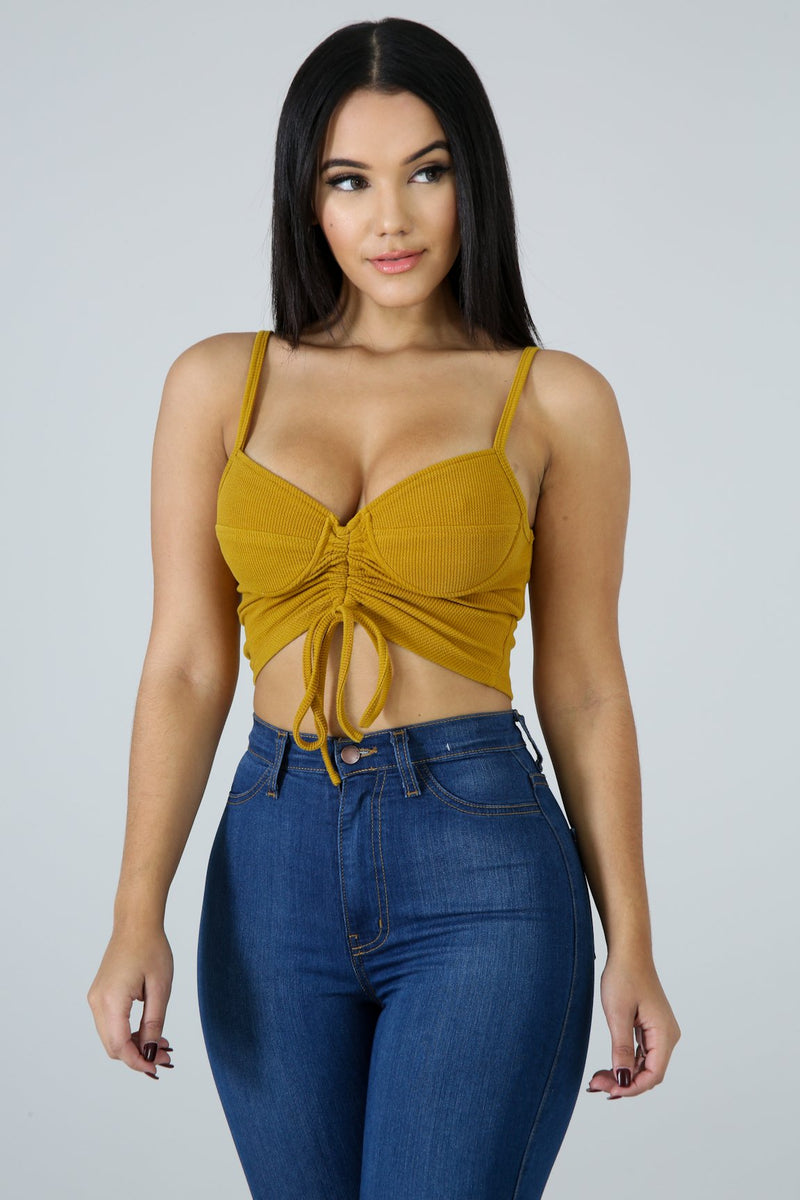 SCRUNCHED CROP TOP - Fashion Bombshellz | Online Boutique