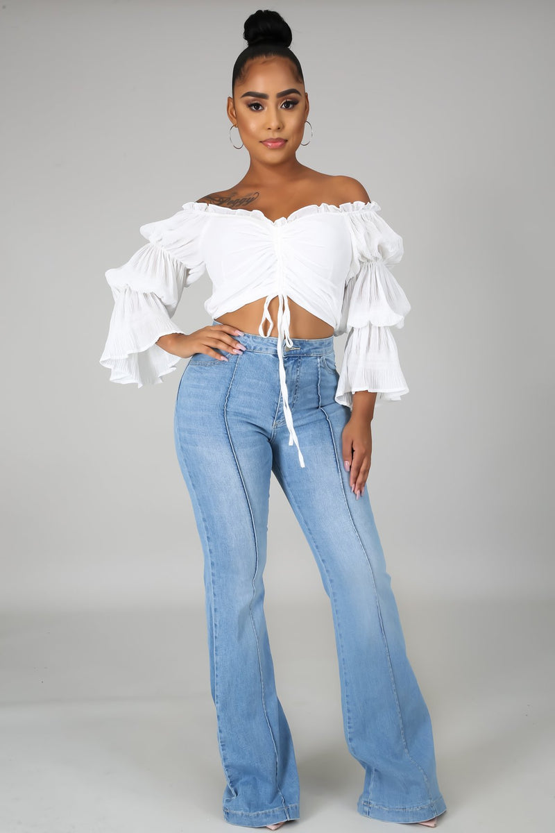 BELL RUCHED TOP-Tops-Fashion Bombshellz | Online Boutique