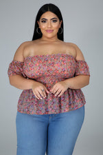 FALL FLOWERS TOP-Tops-Fashion Bombshellz | Online Boutique