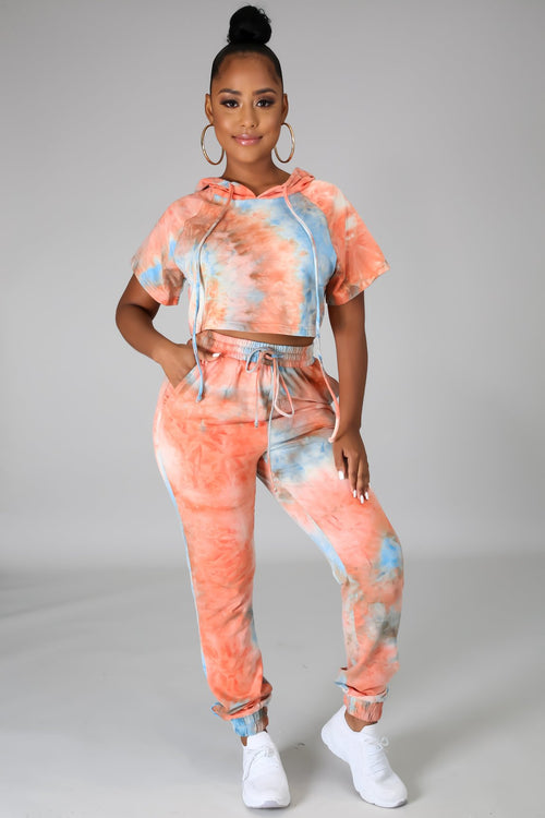 TIE DYE JOGGER SET-Set-Fashion Bombshellz | Online Boutique