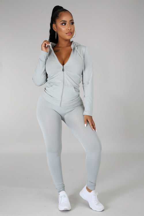 STAY ON TRACK SET | GREY-Set-Fashion Bombshellz | Online Boutique