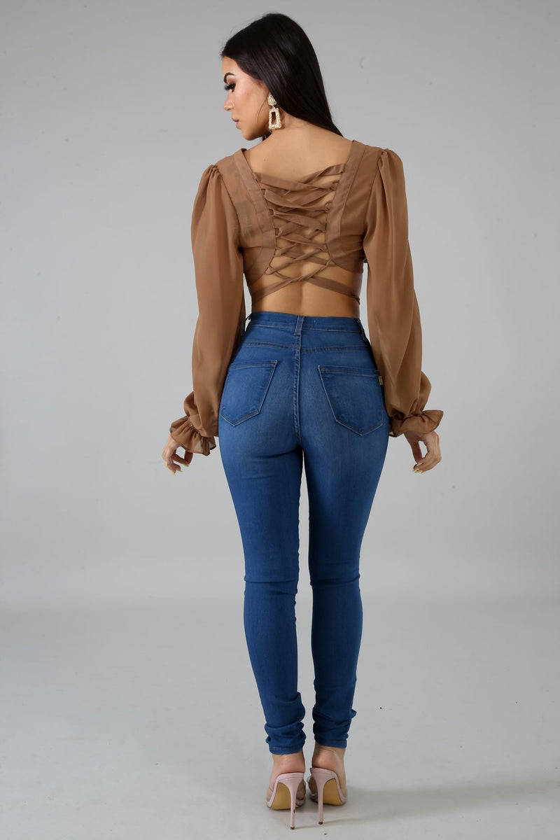 DIANA CROP TOP-Tops-Fashion Bombshellz | Online Boutique