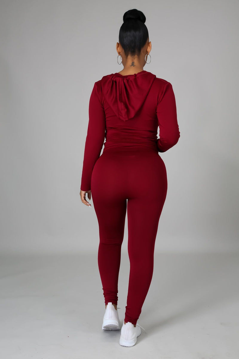 STAY ON TRACK SET | BURGUNDY-Set-Fashion Bombshellz | Online Boutique
