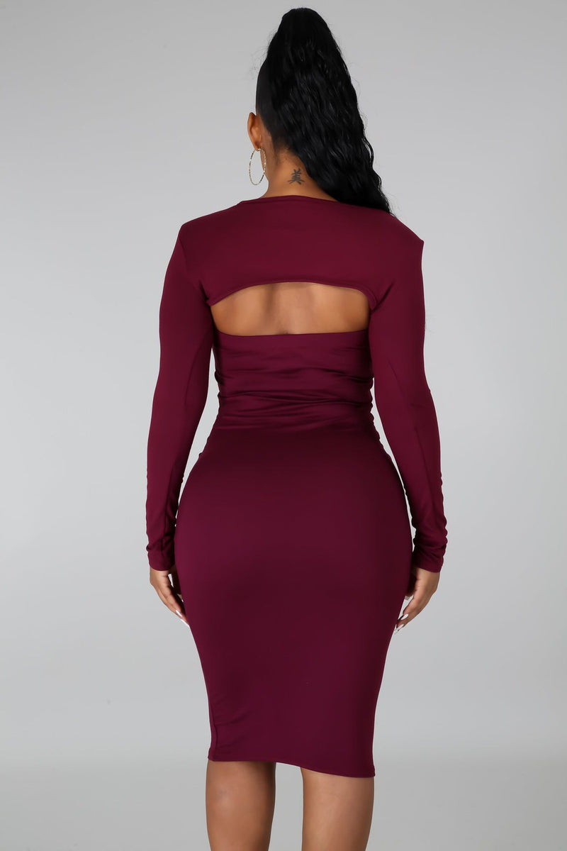 RUBY MIDI DRESS-DRESS-Fashion Bombshellz | Online Boutique