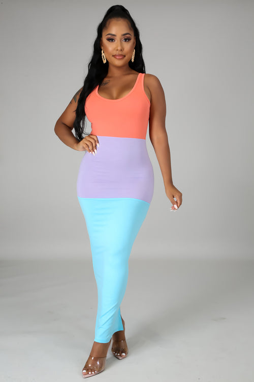 VIBRANT MAXI DRESS-DRESS-Fashion Bombshellz | Online Boutique