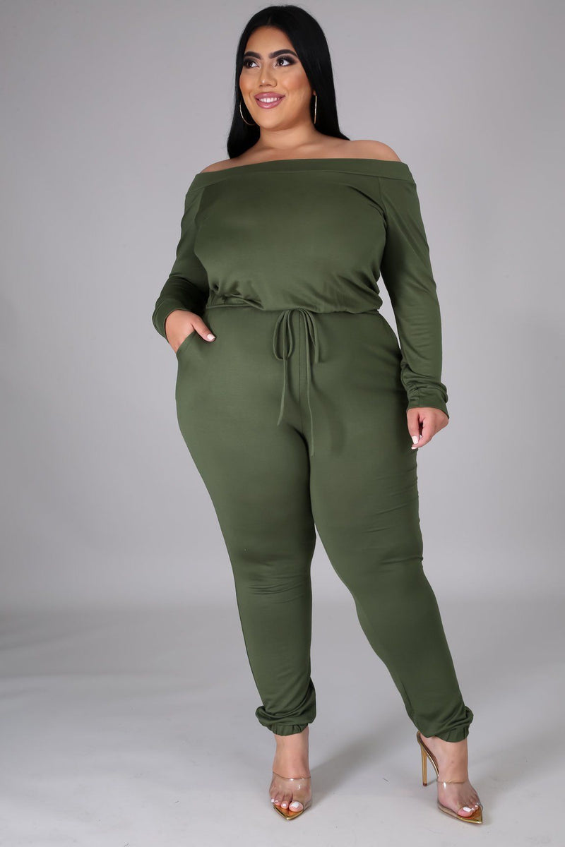 CHILL JUMPSUIT | OLIVE-JUMPSUIT-Fashion Bombshellz | Online Boutique