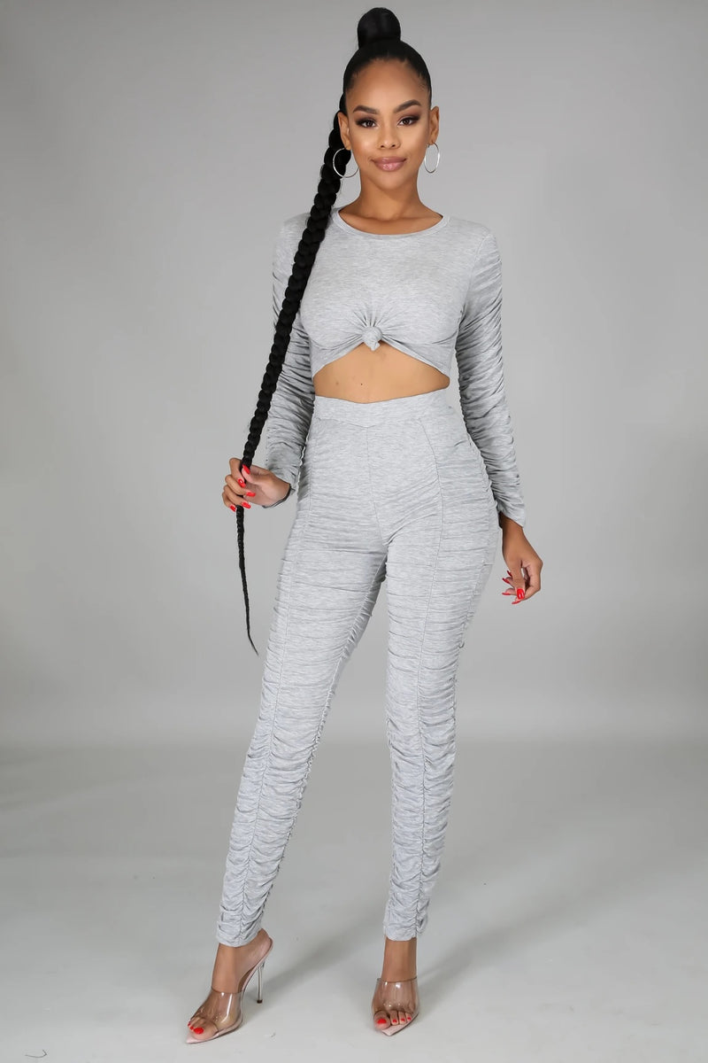 ALL RUCHED UP PANT SET-Set-Fashion Bombshellz | Online Boutique