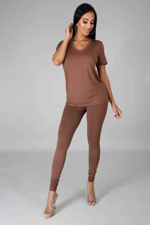COFFEE LEGGING SET-Set-Fashion Bombshellz | Online Boutique