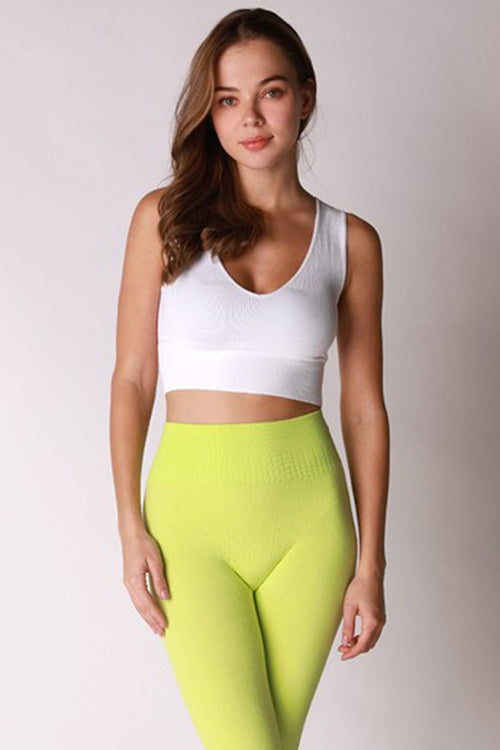 SEAMLESS CROP TOP-Tops-Fashion Bombshellz | Online Boutique