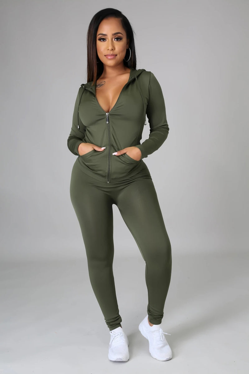 STAY ON TRACK SET | OLIVE-Set-Fashion Bombshellz | Online Boutique