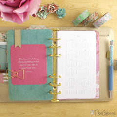 PenGems Free Planner Printables - Year on One Page - Personal Size