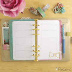 PenGems Free Planner Printables - Week on Two Pages - Personal Size