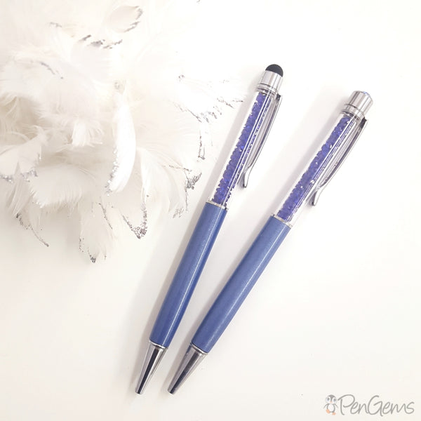 Blue Sapphire Crystal Pens