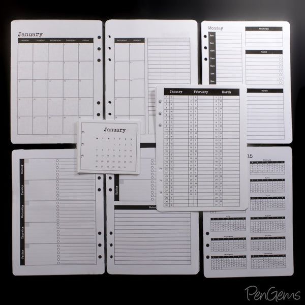 picture regarding A5 Planner Printables known as Totally free Planner Printables - Uncomplicated Topic - A5 PenGems