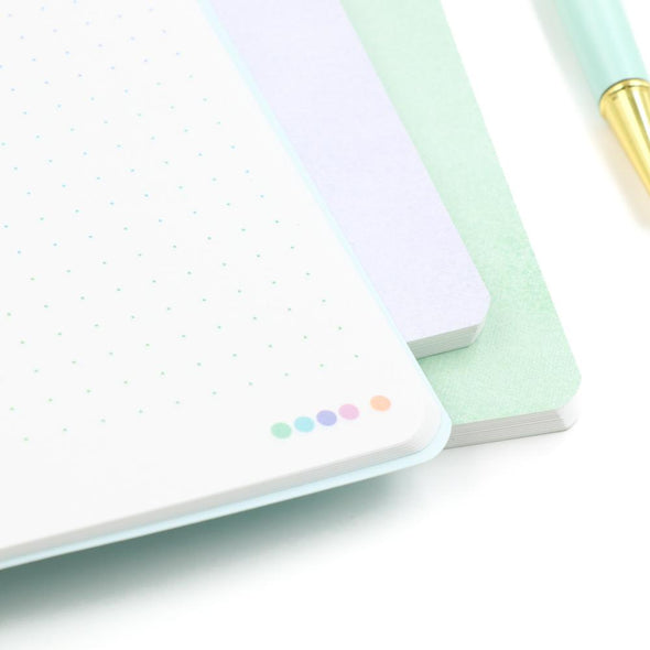 Cool Pastels | A5 Stone Paper Notebook Trio
