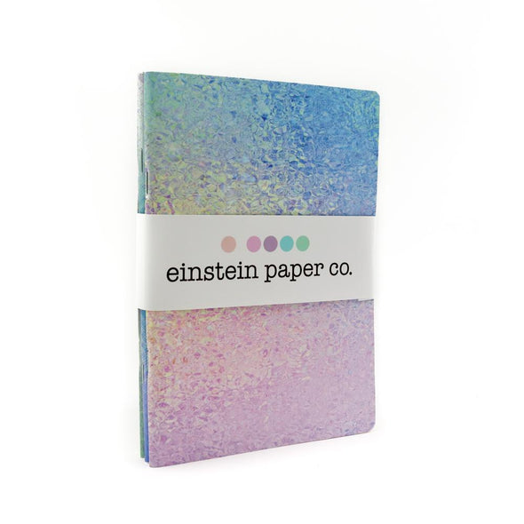 A5 Stone Paper Notebook Trio | Iridescent