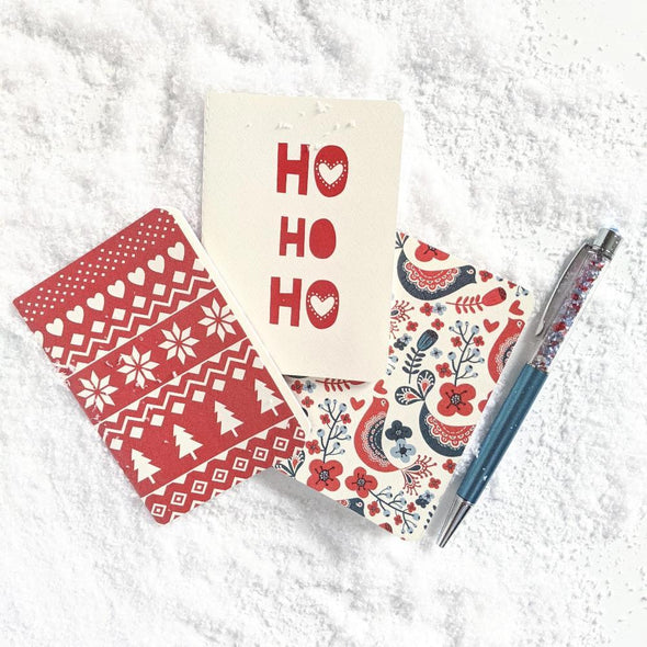 Let It Snow | A7 Mini Stone Paper Notebook Trio