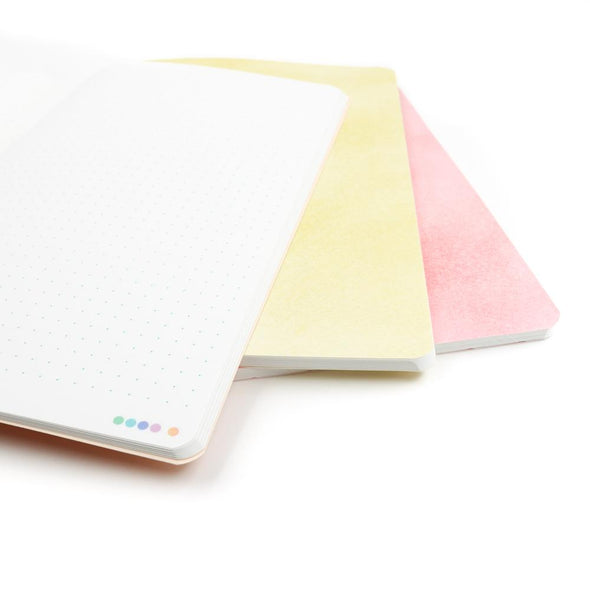 A5 Stone Paper Notebook Trio | Warm Pastels