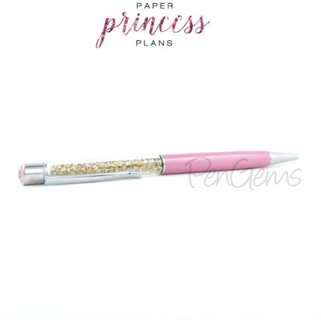 Pen - Paper Princess Plans Designer Crystal Pen