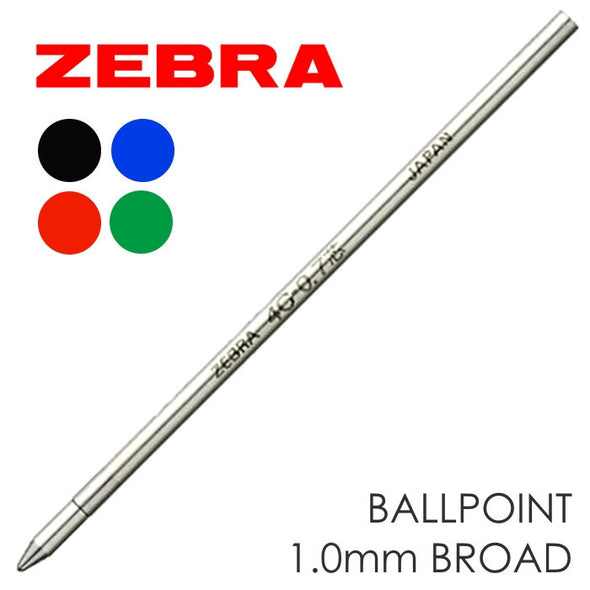 Refill - Zebra® 4C Refill Ink Cartridge 1.0mm Broad
