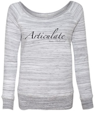 Articulate Women's Wideneck Sweatshirt