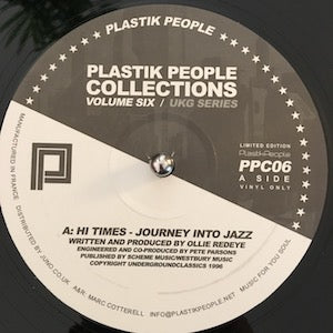 Various<br>★<br>Plastik People Collections Volume Six (UKG Series)