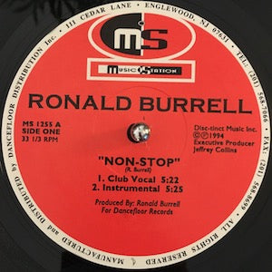 Ronald Burrell<br>★<br>Non-Stop