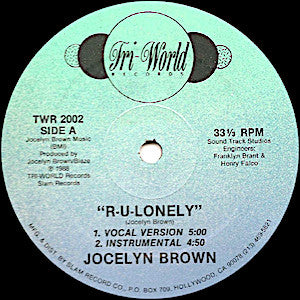 Jocelyn Brown<br>★<br>R-U-Lonely