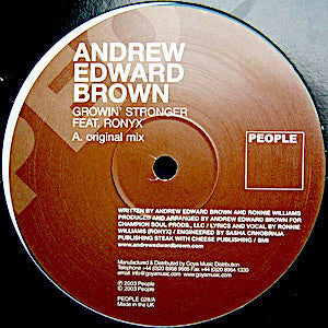 Andrew Edward Brown Feat. Ronyx<br>★<br>Growin' Stronger