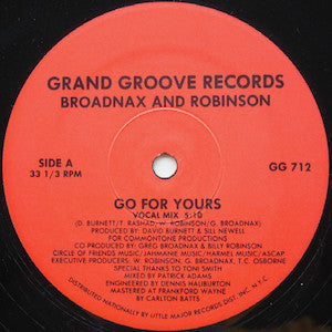 Broadnax And Robinson<br>★<br>Go For Yours