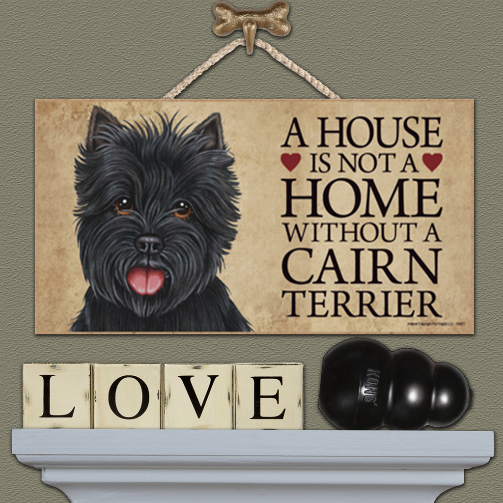 House is Not a Home - Cairn Terrier Black