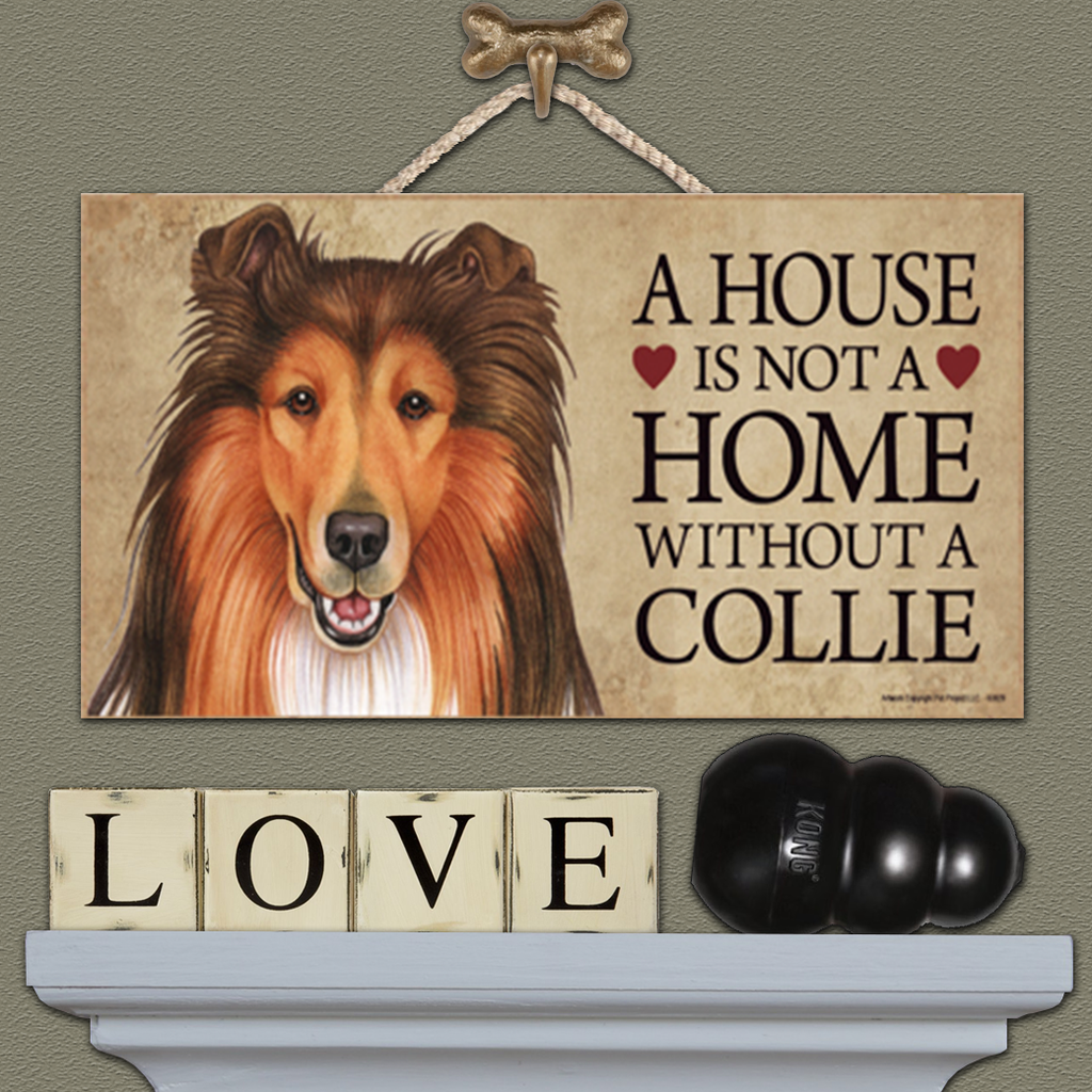 House is Not a Home - Collie White & Tan