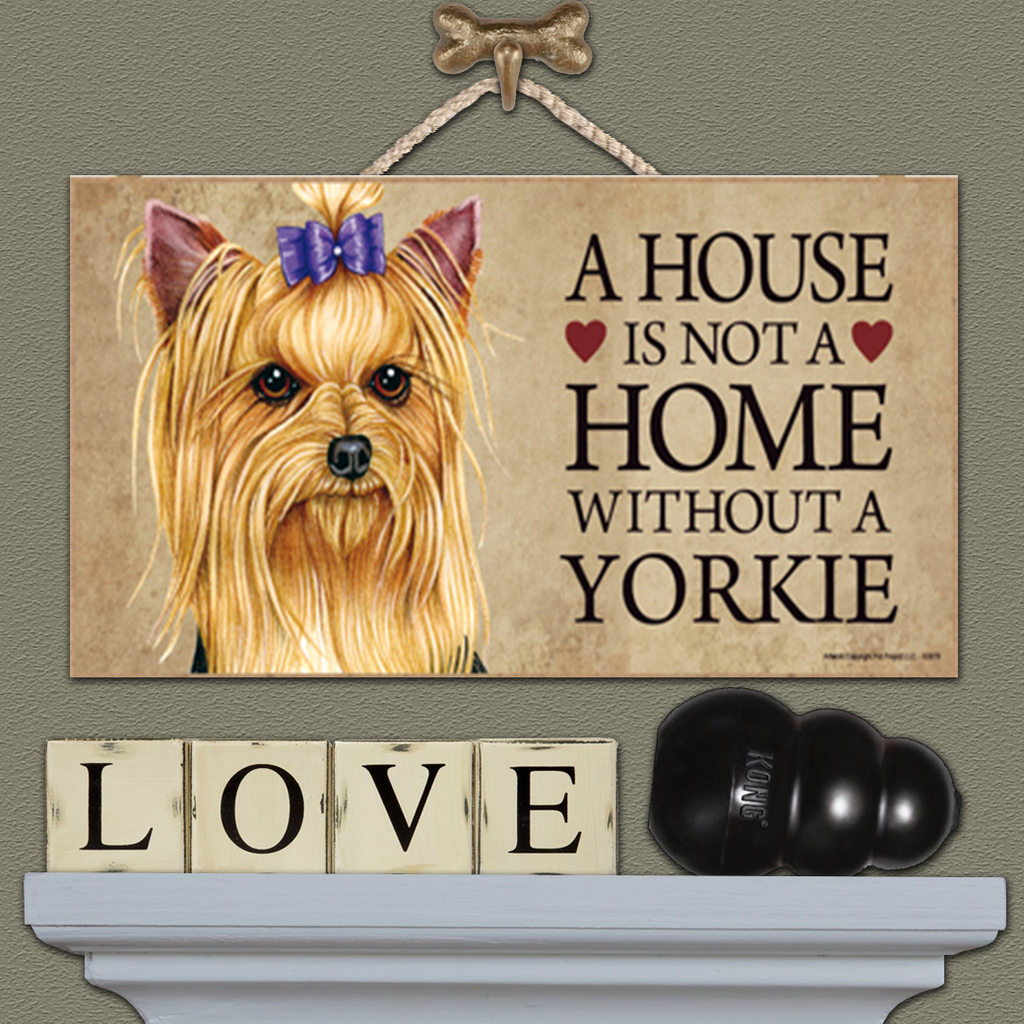 House is Not a Home - Yorkie Bow