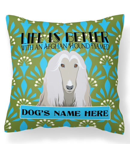 * PERSONALIZED  Afghan Hound Pillow Case