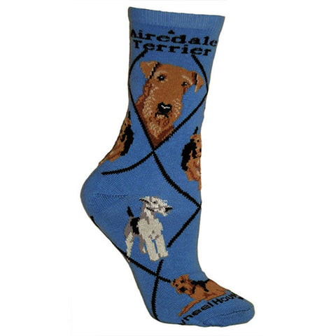 **Quality Airedale Blended Crew Socks