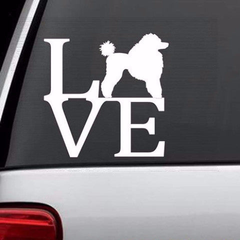 *** Poodle Love Decal