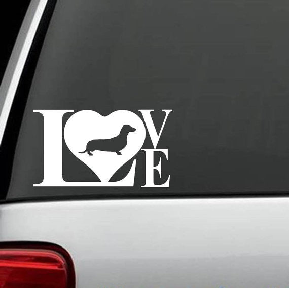 Doxie Love Decal